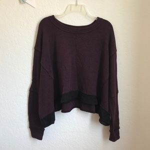 Melrose and Market burgundy black loose sweater S
